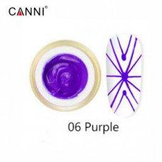 Гель-паутинка Canni 06 сиреневый 8 мл