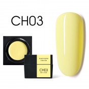 Цветной мусс-гель Canni CH03 желтый 5 мл