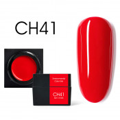 Цветной мусс-гель Canni CH41 яркий красный 5 мл