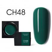 Цветной мусс-гель Canni CH48 изумрудный 5 мл