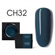 Цветной мусс-гель Canni CH32 темный серо-голубой 5 мл