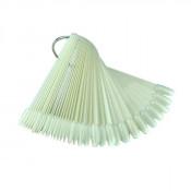 Палитра веер для лаков и гель-лаков белая миндаль