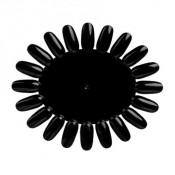 Палитра для лаков и гель-лаков круглая черная ромашка