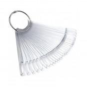 Палитра веер для лаков и гель-лаков прозрачная миндаль