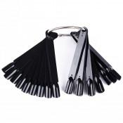 Палитра веер для лаков и гель-лаков чёрная