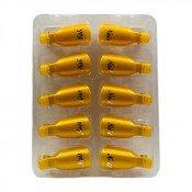 Колпачки для снятия гель-лака золотые