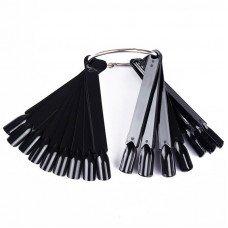 Палитра веер для лаков и Гель-лаков чёрную