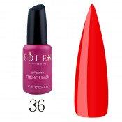 Цветная красная база Edlen French Rubber Base Ferrari 036 17 мл