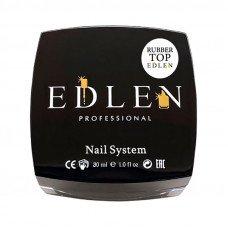 Каучуковый топ для гель-лака Edlen 30 мл с липким слоем, топовое покрытие для ногтей