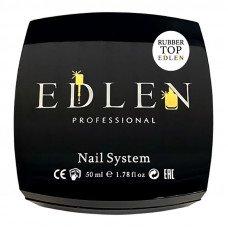Каучуковый топ для гель-лака Edlen 50 мл с липким слоем, топовое покрытие для ногтей