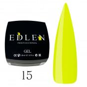 Гель для наращивания Edlen 15 желтый (30 мл)