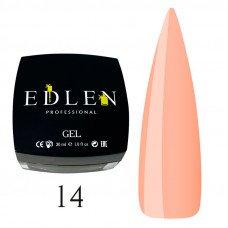 Гель для наращивания ногтей Edlen 14 персик (30 мл)
