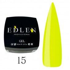 Гель для наращивания ногтей Edlen 15 желтый (30 мл)