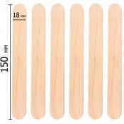 Деревянные шпатели для эпиляции, парафинотерапии 100 шт.