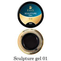 3D-гель для лепки F.O.X 001 чёрный 5 мл