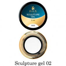 Гель-пластилин для лепки на ногтях объёмного дизайна F.O.X 002 белый 5 мл