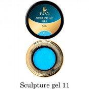 3D-гель для лепки F.O.X 011 голубой 5 мл