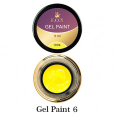 Гель-краска F.O.X. 06 жёлтая, 5 мл