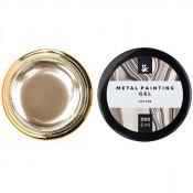 Гель-краска F.O.X Metal painting gel 03 золотистая, 5 мл
