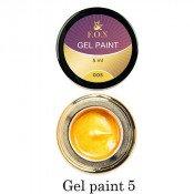 Гель-краска F.O.X. 05 золотистая, 5 мл