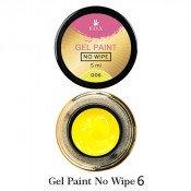Гель-краска F.O.X. 06 жёлтая без липкого слоя, 5 мл
