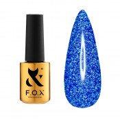 Светоотражающий гель-лак F.O.X Flash 011 синий 5 мл