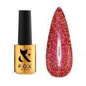 Светоотражающий гель-лак F.O.X Flash 013 красный 6 мл