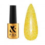 Светоотражающий гель-лак F.O.X Flash 015 желто-золотистый 5 мл