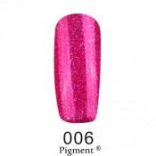 Гель-лак Фокс 006 яркий малиновый с блестками (F.O.X Pigment) 6 мл