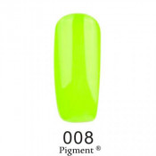 Гель-лак Фокс 008 кислотный лимонный (F.O.X Pigment) 6 мл