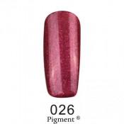 Гель-лак Фокс 026 бордовый с розовым шиммером (F.O.X Pigment) 6 мл