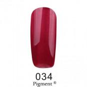 Гель-лак Фокс 034 бордовый с мелким шиммером (F.O.X Pigment) 6 мл