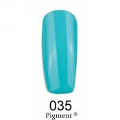 Гель-лак Фокс 035 голубая бирюза (F.O.X Pigment) 6 мл