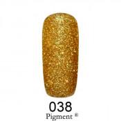 Гель-лак Фокс 038 золотой глиттер (F.O.X Pigment) 6 мл