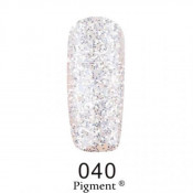 Гель-лак Фокс 040 серебрянные блестки на прозрачной основе (F.O.X Pigment) 6 мл
