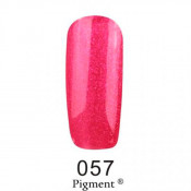 Гель-лак Фокс 057 малиновый с розовыми блестками (F.O.X Pigment) 6 мл