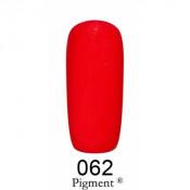 Гель-лак Фокс 062 огненно-красный (F.O.X Pigment) 6 мл