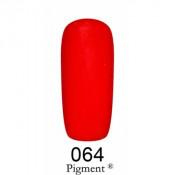 Гель-лак Фокс 064 темный малиново-красный (F.O.X Pigment) 6 мл