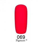 Гель-лак Фокс 069 красно-вишневый (F.O.X Pigment) 6 мл