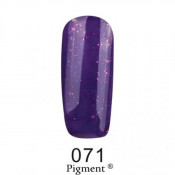 Гель-лак Фокс 071 ярко-фиолетовый с блестками (F.O.X Pigment) 6 мл