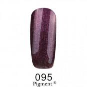 Гель-лак Фокс 095 темно-сиреневый с микроблеском (F.O.X Pigment) 6 мл