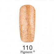 Гель-лак Фокс 110 золотой с блестками (F.O.X Pigment) 6 мл
