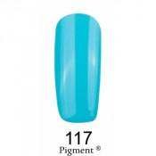 Гель-лак Фокс 117 голубой (F.O.X Pigment) 6 мл