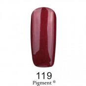 Гель-лак Фокс 119 вишневый с перламутром (F.O.X Pigment) 6 мл
