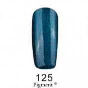 Гель-лак Фокс 125 темно-синий с зелеными блестками (F.O.X Pigment) 6 мл