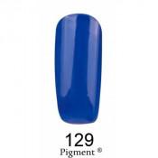 Гель-лак Фокс 129 очень темный синий (F.O.X Pigment) 6 мл