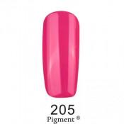 Гель-лак Фокс 205 приглушенный малиновый (F.O.X Pigment) 6 мл