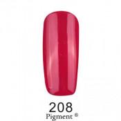 Гель-лак Фокс 208 темно-малиновый (F.O.X Pigment) 6 мл