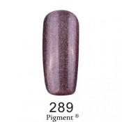 Гель-лак Фокс 289 серо-фиолетовый с блестками (F.O.X Pigment) 6 мл