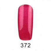 Гель-лак Фокс 372 ягодно-малиновый с блестками (F.O.X Pigment) 6 мл
